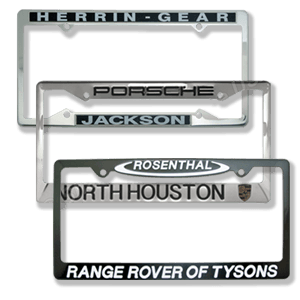 Custom Metal License Plate Frames