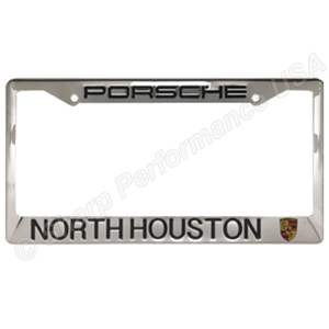 Custom Stamped Shiny Finish Stainless Steel Metal License Plate Frame – 2 Hole