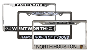 Stainless Steel Dealer License Plate Frames